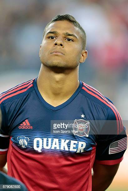 Chicago Fire's Quincy Amarikwa The New England Revolution defeated the Chicago Fire 21 in a regular season Major League Soccer match at Gillette...