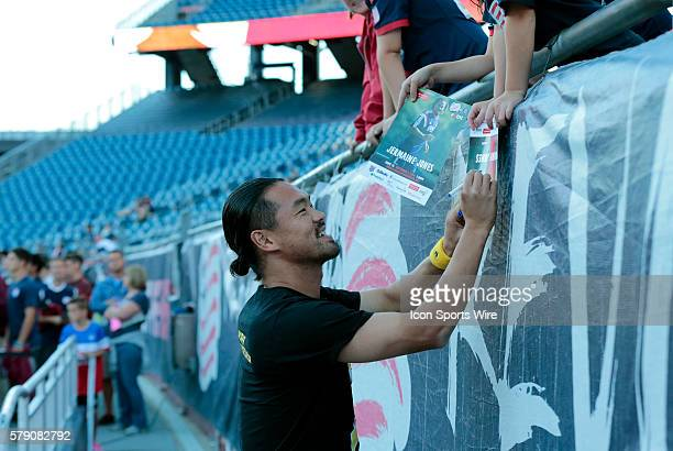 New England Revolution's Daigo Kobayashi signs an autograph before warming up The New England Revolution defeated the Chicago Fire 21 in a regular...