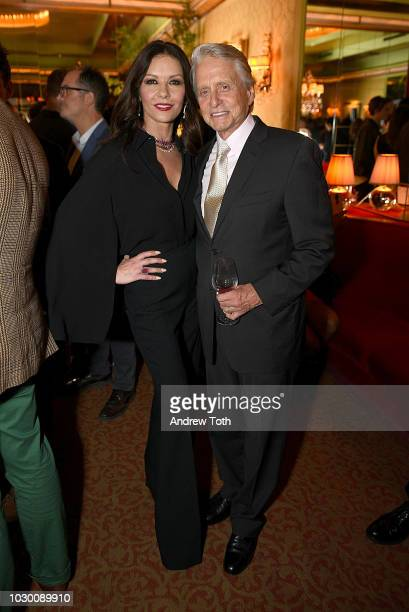 September cover star Catherine Zeta-Jones and Michael Douglas attend Town & Country 2018 New Modern Swans Celebration with Michael Kors, Catherine...