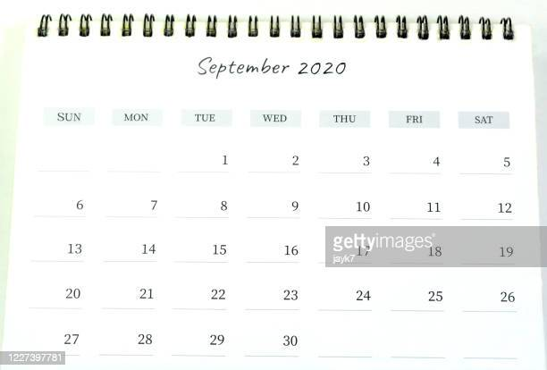 september month 2020 calendar - september stock pictures, royalty-free photos & images