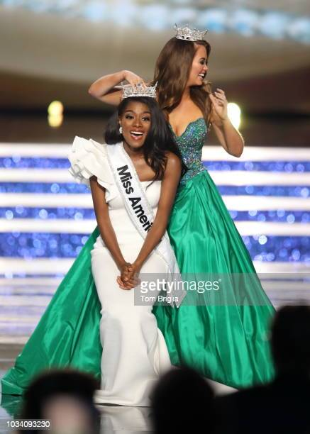 September_9: Miss New York Nia Franklin wins the 2019 Miss America Pageant held in Historic Boardwalk Hall on Sunday September 9, 2018 in Atlantic...