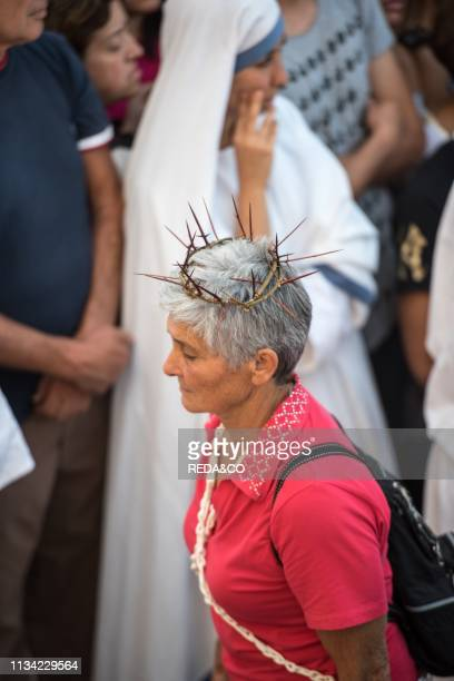 Septennial rituals of penance in honor of the Assumption Guardia Sanframondi Benevento Campania Italy
