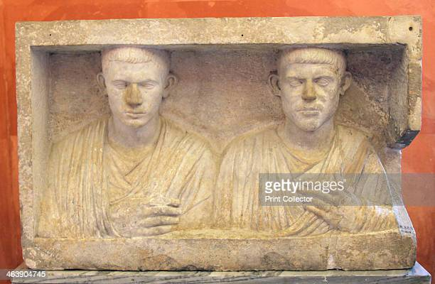 Sepulchral monument of two brothers second half of 1st century BC Found in the collection of The Hermitage St Petersburg