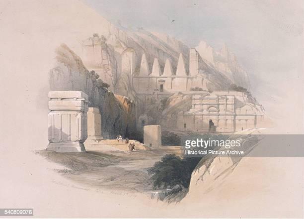 Sepulchral Monuments at Petra 1859