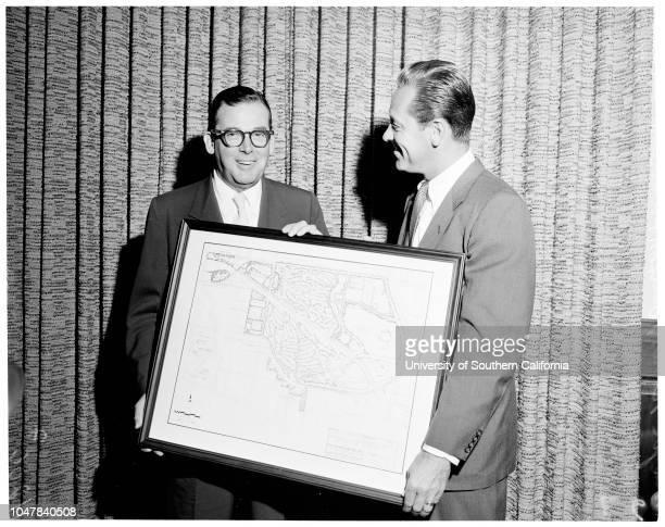 Sepulveda Dam Recreation Plan August 30 1954 Sketch of master plan of Sepulveda Dam Recreation AreaMayor Norris PoulsonGeorge HjelteWilliam...