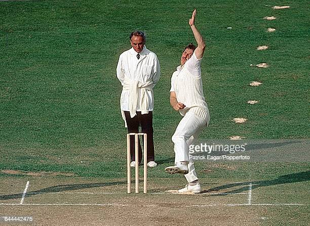 Sequence of the bowling action of Ian Botham of England, during the 1st Test match between England and India at Lord's Cricket Ground, London, 11th...