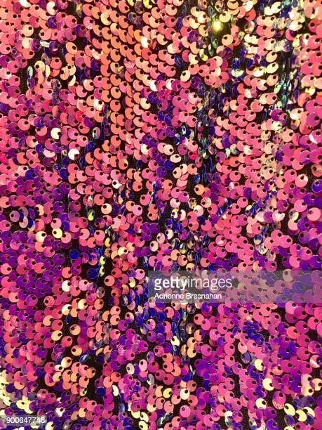 sequins in shades of pink and gold - bling bling stock pictures, royalty-free photos & images
