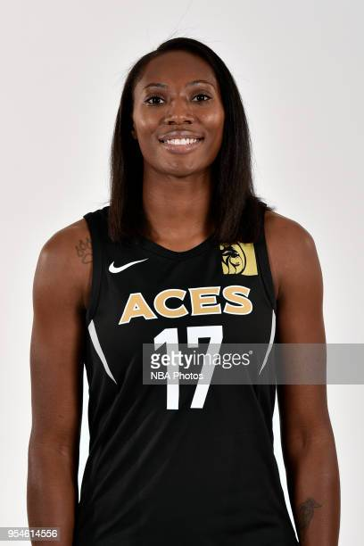 Sequoia Holmes of the Las Vegas Aces poses for a head shot at WNBA Media Day at MGM Grand Garden Arena on May 3 2018 in Las Vegas Nevada NOTE TO USER...
