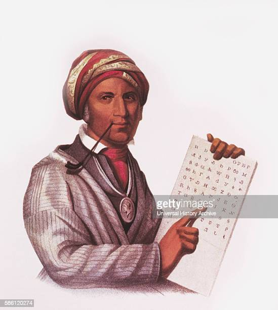 Sequoyah George Guess Inventor of Cherokee Alphabet Painting by Charles Bird King circa 1828