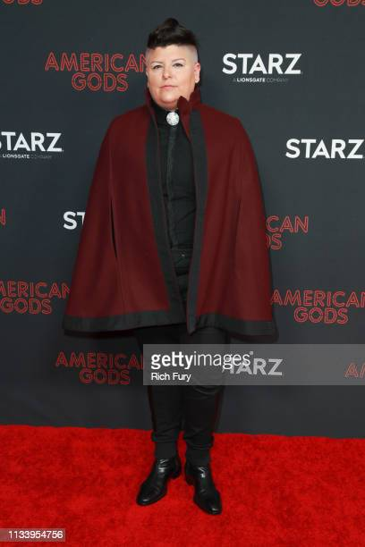 Ser Anzoategui attends the premiere of STARZ's 'American Gods' season 2 at Ace Hotel on March 05 2019 in Los Angeles California