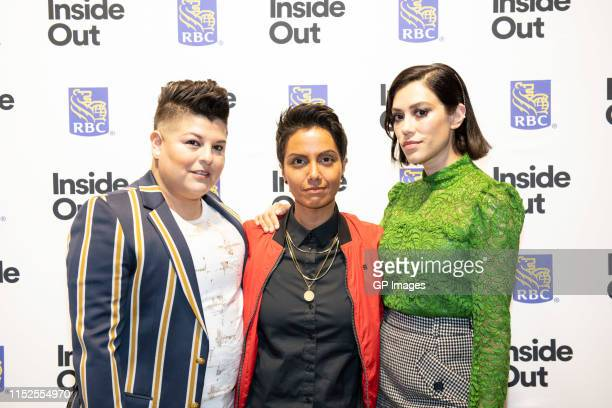 "Ser Anzoategui, Fawzia Mirza and Mishel Prada attend 2019 Inside Out LGBT Film Festival - Screening Of ""Vida"" at TIFF Bell Lightbox on May 29, 2019..."