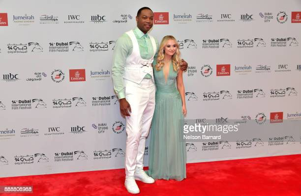 Ser Darius Blain and Madison Iseman attend the Jumanji Welcome to the Jungle on day four of the 14th annual Dubai International Film Festival held at...