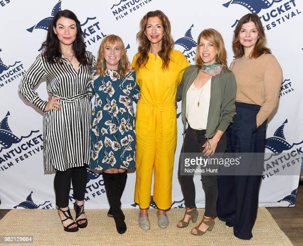 Sera Gamble Miranda Bailey Alysia Reiner Nancy Schwartzman and Jeanne Tripplehorn attend Women Behind the Words at the 2018 Nantucket Film Festival...