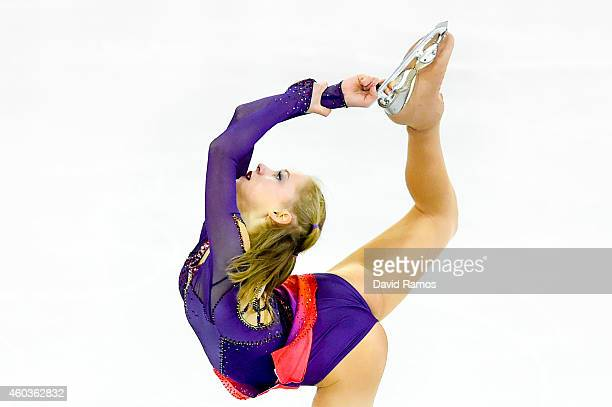 Serafima Sakhanovich of Russia competes in the Junior Ladies Free Skating Final during day two of the ISU Grand Prix of Figure Skating Final...