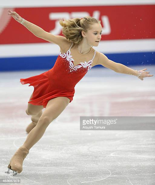 Serafima Sakhanovich of Russia competes in the Junior ladies's short program during day one of the ISU Grand Prix of Figure Skating Final 2013/2014...