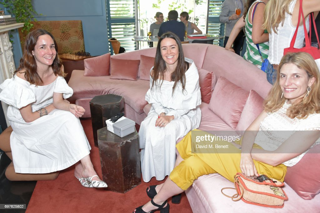 Serafina Sama, Alex Eagle and Martina Mondadori Sartogo attend the Isa Arfen x Alex Eagle lunch at The Chess Club on June 19, 2017 in London, England.