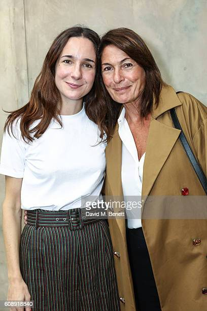 Serafina Sama and Alessandra Ferruzzi attend the Isa Arfen presentation during London Fashion Week Spring/Summer collections 2017 on September 20...