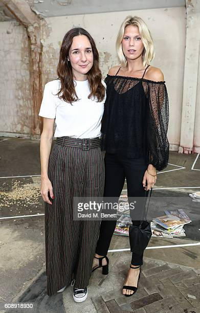 Serafina Sama and Alexandra Richards attend the Isa Arfen presentation during London Fashion Week Spring/Summer collections 2017 on September 20 2016...