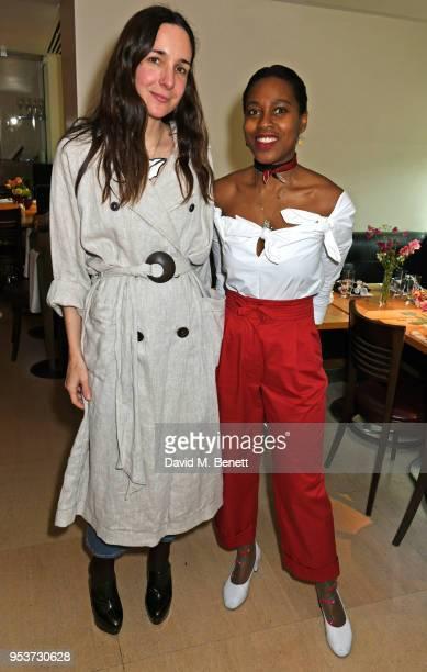 Serafina Sama and Susan Bender attend an exclusive lunch at Nobu hosted by Serafina Sama celebrating the Isa Arfen Spring/Summer 2018 pop up at...