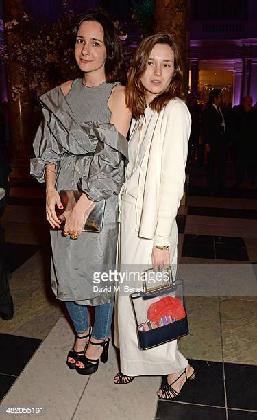 Serafina Sama and Valentine Fillol Cordier attend a VIP private view of 'The Glamour of Italian Fashion 19452014' at the Victoria Albert Museum on...