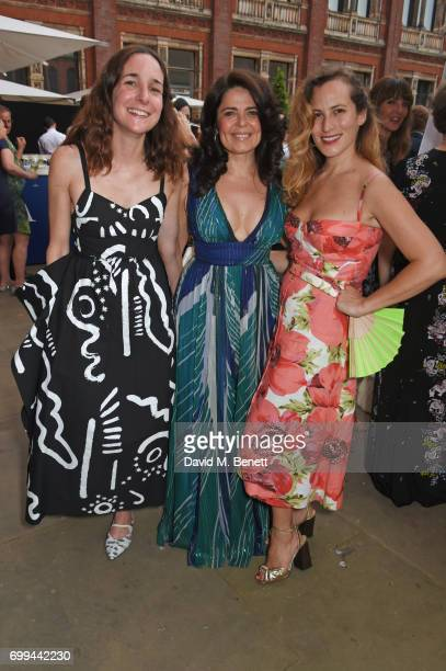 Serafina Sama Daniella Helayel and Charlotte Dellal attend the 2017 annual VA Summer Party in partnership with Harrods at the Victoria and Albert...