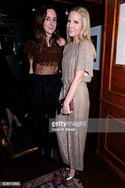 Serafine Sama and Alice Naylor Leyland attend an intimate dinner to celebrate the launch of the Charlotte Olympia for Paperless Post stationary...