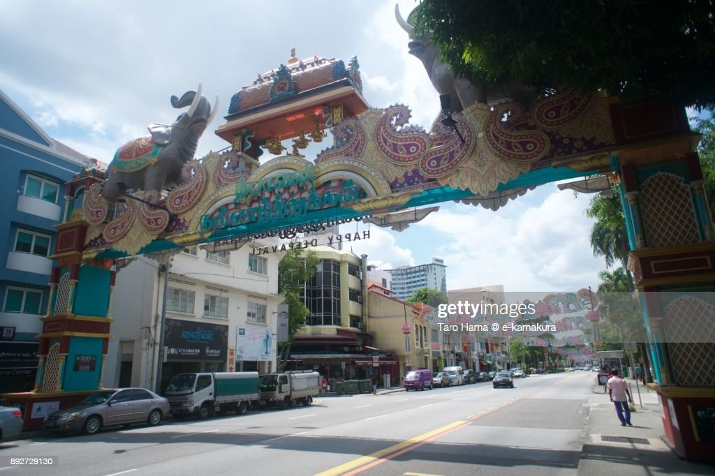 Serangoon Road in Little India in Singapore : Stock-Foto