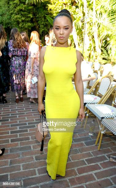 Serayah attends CFDA/Vogue Fashion Fund Show and Tea at Chateau Marmont at Chateau Marmont on October 25 2017 in Los Angeles California