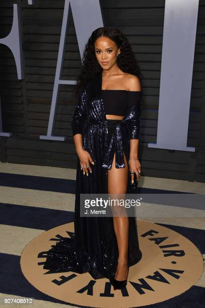 Serayah attends the 2018 Vanity Fair Oscar Party hosted by Radhika Jones at the Wallis Annenberg Center for the Performing Arts on March 4 2018 in...