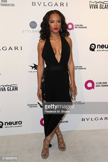 Serayah attends the 24th Annual Elton John AIDS Foundation's Oscar Viewing Party on February 28 2016 in West Hollywood California