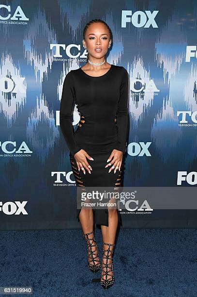 Serayah attends the FOX AllStar Party during the 2017 Winter TCA Tour at Langham Hotel on January 11 2017 in Pasadena California