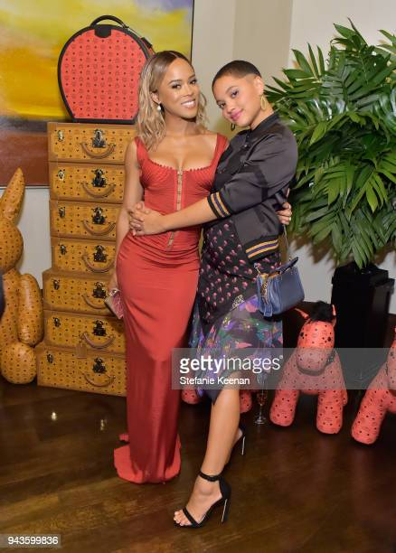 Serayah McNeil and Kiersey Clemons attend The Daily Front Row's 4th Annual Fashion Los Angeles Awards at Beverly Hills Hotel on April 8 2018 in...