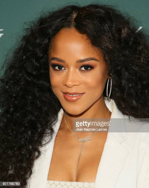 Serayah McNeill arrives to the Council of Fashion Designers of America luncheon held at Chateau Marmont on February 20 2018 in Los Angeles California