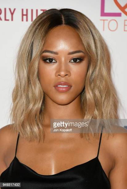 Serayah McNeill attends the 25th Annual Race To Erase MS Gala at The Beverly Hilton Hotel on April 20 2018 in Beverly Hills California