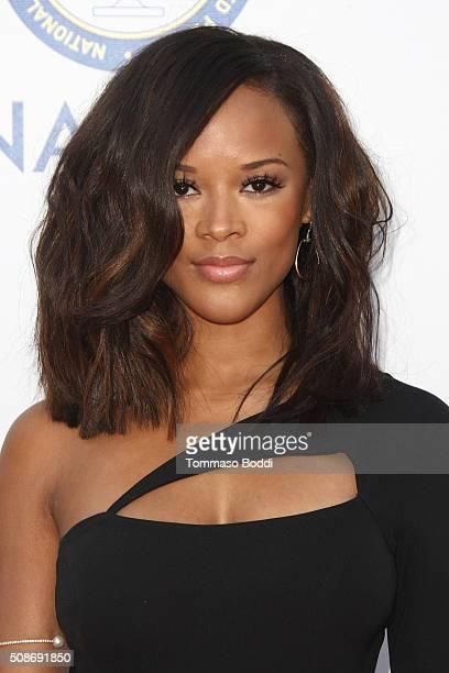 Serayah McNeill attends the 47th NAACP Image Awards held at Pasadena Civic Auditorium on February 5 2016 in Pasadena California