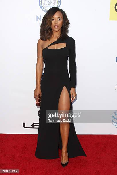 Serayah McNeill attends the 47th NAACP Image Awards held at Pasadena Civic Auditorium on February 5, 2016 in Pasadena, California.