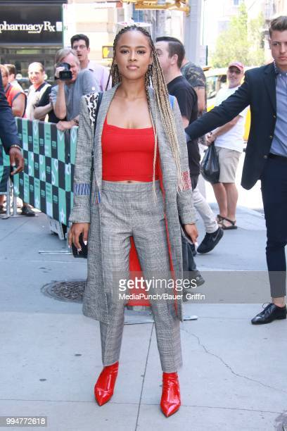 Serayah McNeill is seen on July 09 2018 in New York City