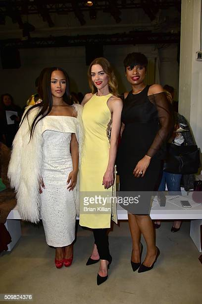 Serayah McNeill Jaime King and Jennifer Hudson attend the Cushnie et Ochs show during Fall 2016 New York Fashion Week The Shows at Skylight at...
