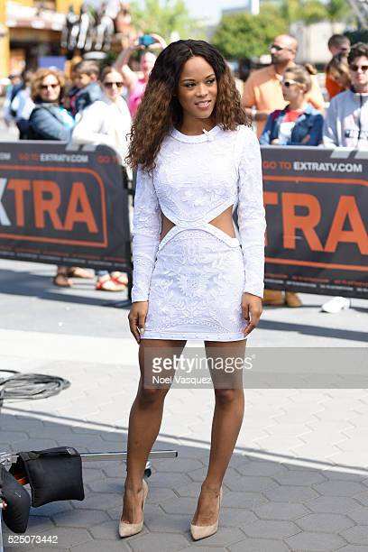 Serayah McNeill visits 'Extra' at Universal Studios Hollywood on April 27 2016 in Universal City California