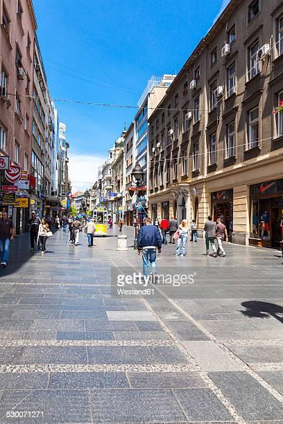 Serbia, Belgrade, Novi Beograd, Savski Venac, Knez Mihailjova, shopping street