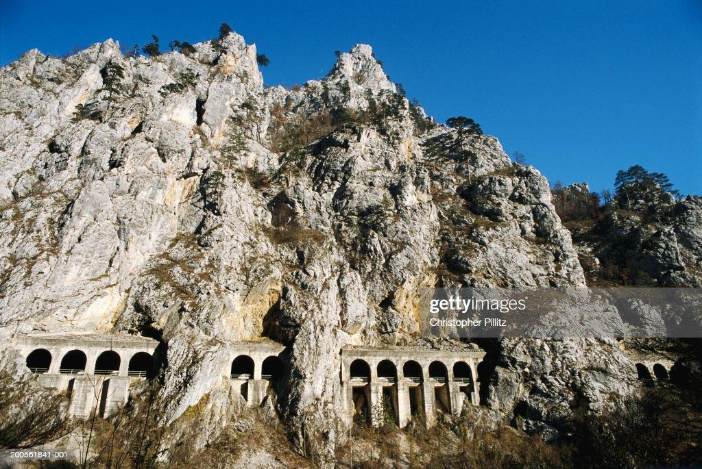 Serbia / Montenegro, railway line connecting Belgrade and Podgorica : Stock Photo