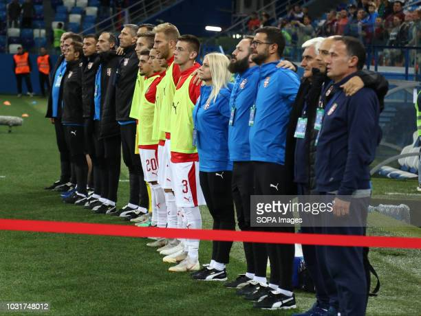 Serbia national team 2019 UEFA European Under21 Championship Russia vs Serbia Group 7 The Russian team lost to Serbia team 32
