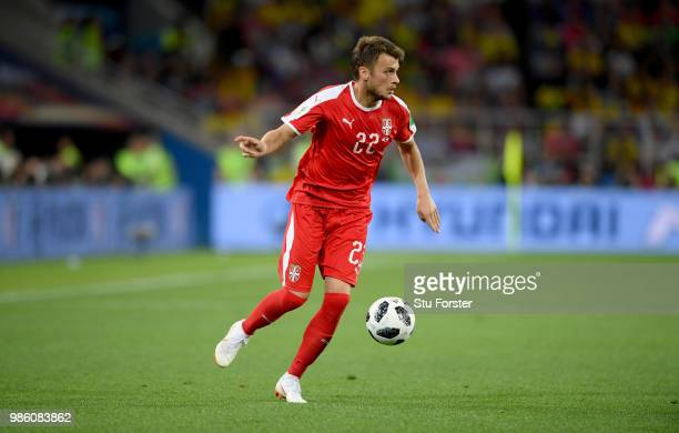 Serbia player Adem Ljajic in action during the 2018 FIFA World Cup Russia group E match between Serbia and Brazil at Spartak Stadium on June 27 2018...