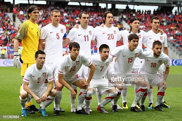 Serbia team group during the New Zealand v Serbia International Friendly match at the Hypo Group Arena on May 29, 2010 in Klagenfurt, Austria.