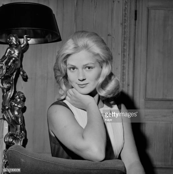 Serbian actress Beba Loncar posed in London on 15th July 1963 Beba Loncar is currently preparing for her role in the film 'The Long Ships'