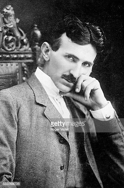 Serbian American inventor and electrical engineer Nikola Tesla aged 40 circa 1896