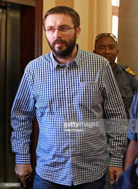 Serbian assassin Dobrosav Gavric appears at Cape Town Magistrates Court where proceedings for his extradition to Serbia will begin on February 6 2012...