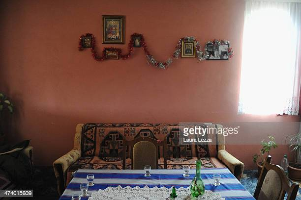 Serbian home is seen during a patrolling activiy carried out by Italian KFOR soldiers after the sixth anniversary of Kosovo's declaration of...