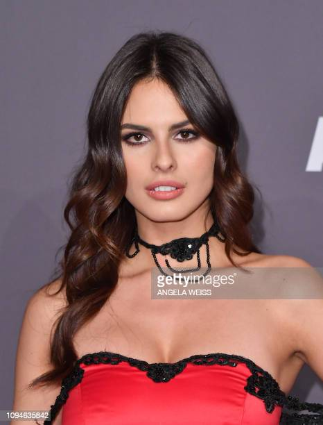 Serbian model Bojana Krsmanovic arrives at The amfAR Gala New York the Foundations 21st annual benefit for AIDS research during New York Fashion Week...