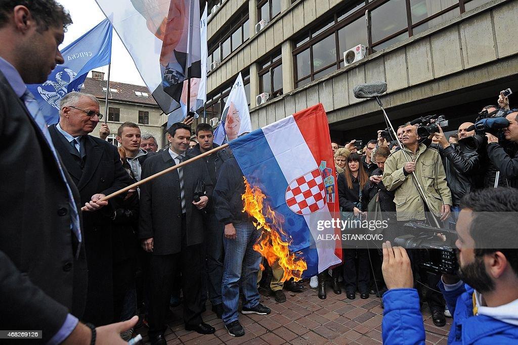 SERBIA-CROATIA-WARCRIMES-POLITICS-SESELJ : News Photo